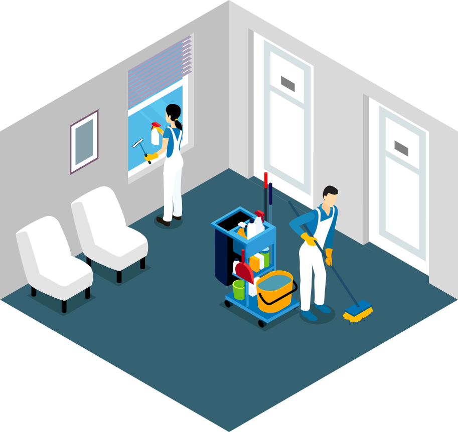 Cleaning experts concepts